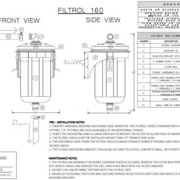 PDF of Filtrol160 specsheet can be emailed upon request.