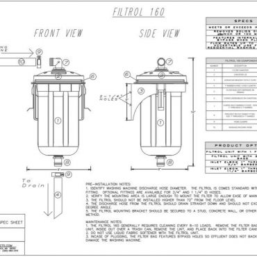 PDF of Filtrol 160 specsheet can be emailed upon request.