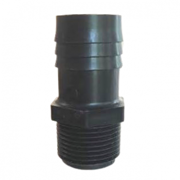 """3/4"""" Threaded x 1"""" Barbed Straight Fitting"""